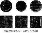 grunge post stamps collection ... | Shutterstock .eps vector #739377580