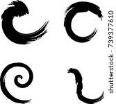 vector frames. circle for image.... | Shutterstock .eps vector #739377610