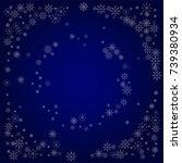 christmas snow powder frame or... | Shutterstock .eps vector #739380934