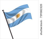 argentina flag. argentina icon... | Shutterstock .eps vector #739382320