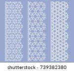 vector set of line borders with ... | Shutterstock .eps vector #739382380