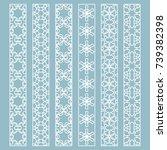 vector set of line borders with ... | Shutterstock .eps vector #739382398
