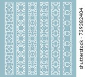 vector set of line borders with ... | Shutterstock .eps vector #739382404