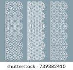 vector set of line borders with ... | Shutterstock .eps vector #739382410