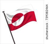 flag of greenland. greenland...   Shutterstock .eps vector #739382464
