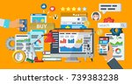 web promotion and analytics of... | Shutterstock . vector #739383238