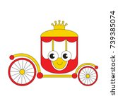 chariot funny and cute cartoon... | Shutterstock .eps vector #739385074