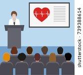 female doctor giving medical... | Shutterstock .eps vector #739388614