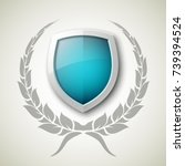 protected guard shield concept. ...   Shutterstock .eps vector #739394524