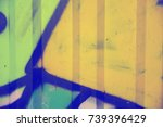 graffiti  fence  background | Shutterstock . vector #739396429