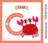 letter c uppercase cute... | Shutterstock .eps vector #739397014