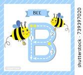 letter b uppercase cute... | Shutterstock .eps vector #739397020
