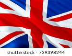 united kingdom flag. flag of... | Shutterstock . vector #739398244