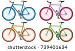 set of vectors bikes   Shutterstock .eps vector #739401634