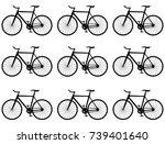 set of vectors bikes   Shutterstock .eps vector #739401640