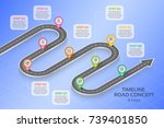 isometric navigation map... | Shutterstock .eps vector #739401850