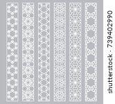 vector set of line borders with ... | Shutterstock .eps vector #739402990
