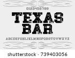 vintage font typeface... | Shutterstock .eps vector #739403056