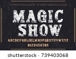 vintage font handcrafted vector ...   Shutterstock .eps vector #739403068