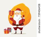 merry christmas happy smile... | Shutterstock .eps vector #739406458