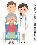 doctors and wheelchair patients | Shutterstock .eps vector #739407310