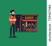 Barber Shop Owner Vector Flat...