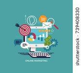 online and digital marketing... | Shutterstock .eps vector #739408330