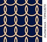 golden geometric ornament on... | Shutterstock .eps vector #739413070