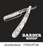 razor. vector black...   Shutterstock .eps vector #739419718