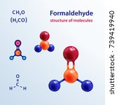 structure of molecules. 3 d... | Shutterstock .eps vector #739419940