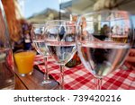 row of pure drinking water... | Shutterstock . vector #739420216