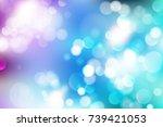 soft golden christmas lights  ... | Shutterstock .eps vector #739421053