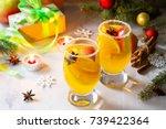 homemade christmas cocktail...   Shutterstock . vector #739422364