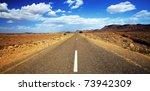 Endless Road In Sahara Desert ...