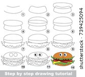 kid game to develop drawing... | Shutterstock .eps vector #739425094