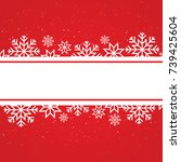 winter card template with... | Shutterstock .eps vector #739425604