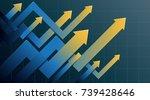 financial arrow graphs | Shutterstock .eps vector #739428646