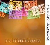 dia de los muertos  day of the... | Shutterstock .eps vector #739430479