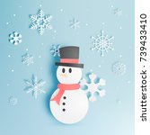 Snowman And Snow Flake With...