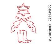 illustration of sheriff star ...   Shutterstock .eps vector #739434970