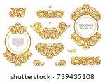 vector set with vintage frames  ...   Shutterstock .eps vector #739435108