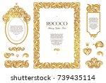 vector set with vintage frames  ...   Shutterstock .eps vector #739435114