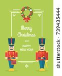 nutcracker toy soldiers... | Shutterstock .eps vector #739435444