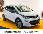 Small photo of Frankfurt, Germany, September 13, 2017: white Chevrolet Bolt EV, electric hybid plug-in eco friendly car at 67th International Motor Show (IAA)