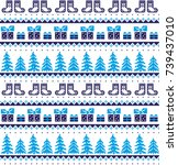 new year's christmas pattern... | Shutterstock .eps vector #739437010