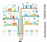 travel infographic.... | Shutterstock .eps vector #739437154