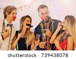 picture showing group of... | Shutterstock . vector #739438078