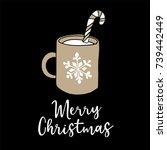 merry christmas  new year...   Shutterstock .eps vector #739442449