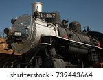 locomotive at the lomita... | Shutterstock . vector #739443664