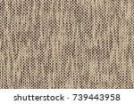 gray linen textile seamless... | Shutterstock . vector #739443958